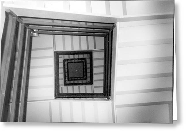 Greeting Card featuring the photograph Stairwell by Tarey Potter