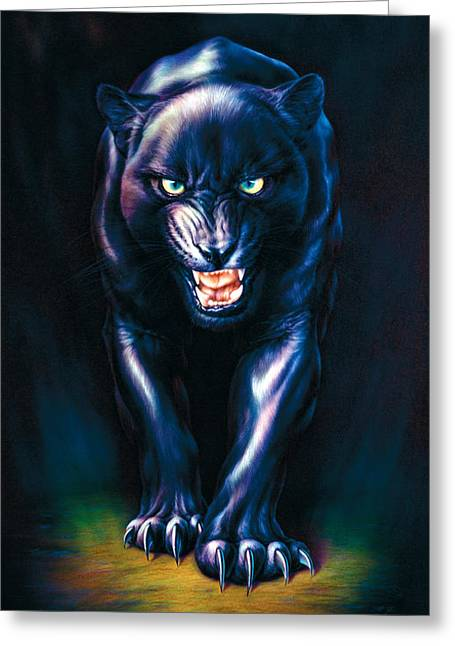 Stalking Panther Greeting Card