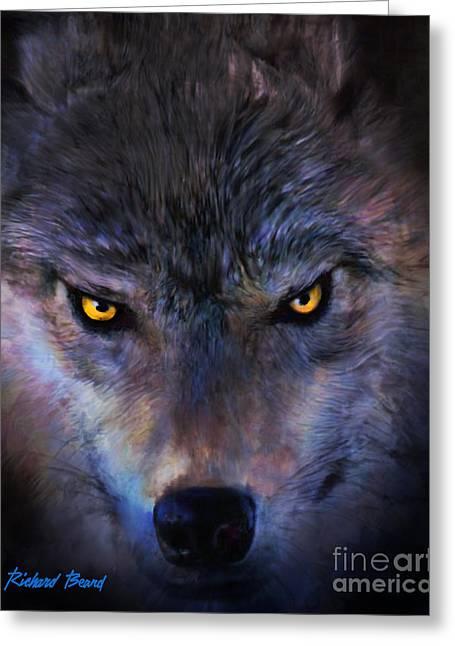 Stalking Wolf Greeting Card