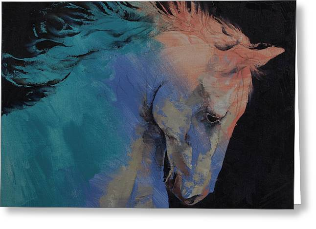 Stallion Greeting Card by Michael Creese