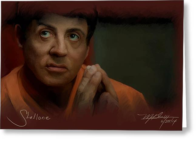 Stallone Greeting Card by Mark Gallegos