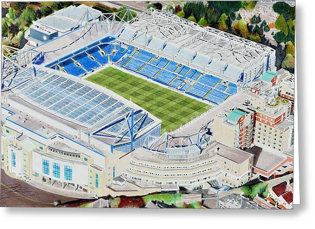 Stamford Bridge Stadia Art - Chelsea Fc Greeting Card