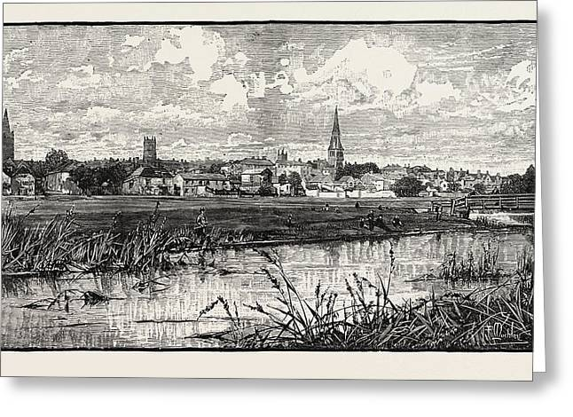 Stamford Is A Town And Civil Parish On The River Welland Greeting Card