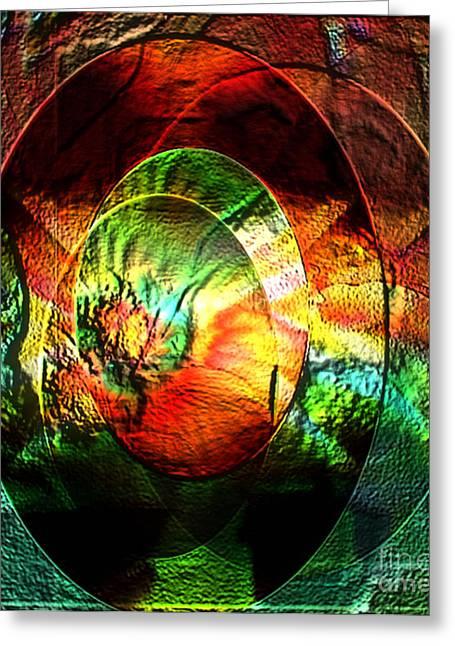 Stamped Mirror Of Love Greeting Card by Gayle Price Thomas
