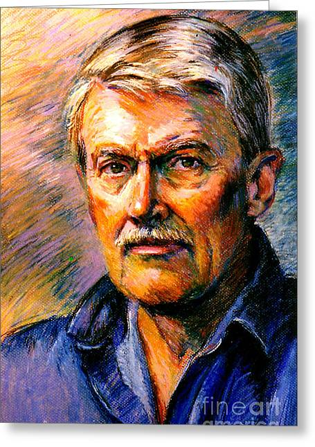 Stan Esson Self Portrait Greeting Card by Stan Esson