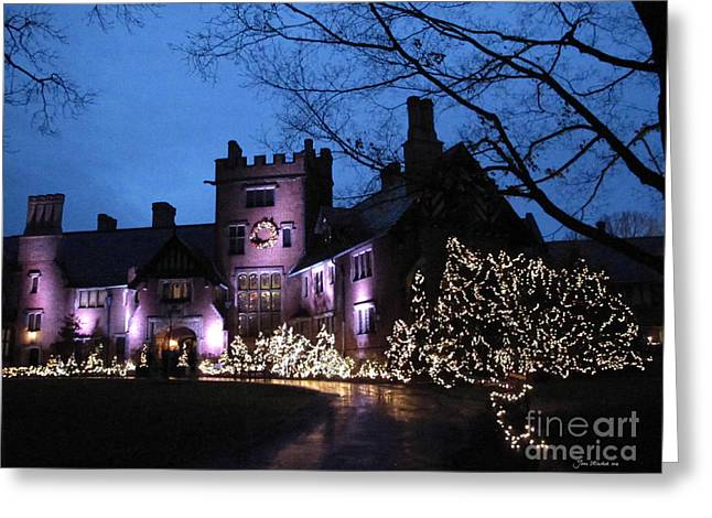 Stan Hywet Hall And Gardens Christmas  Greeting Card by Joan  Minchak