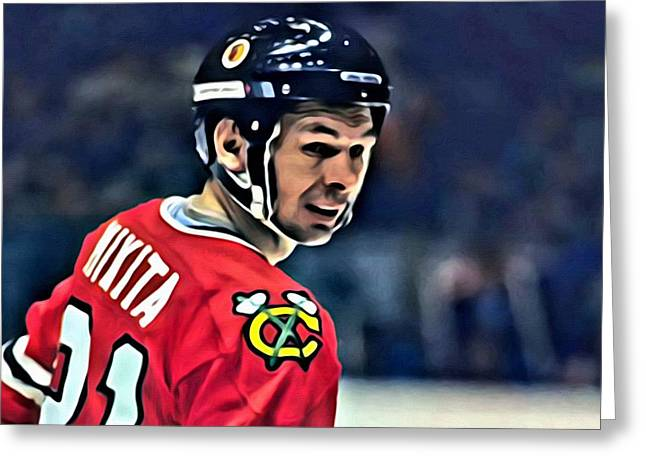 Stan Mikita Portrait Greeting Card
