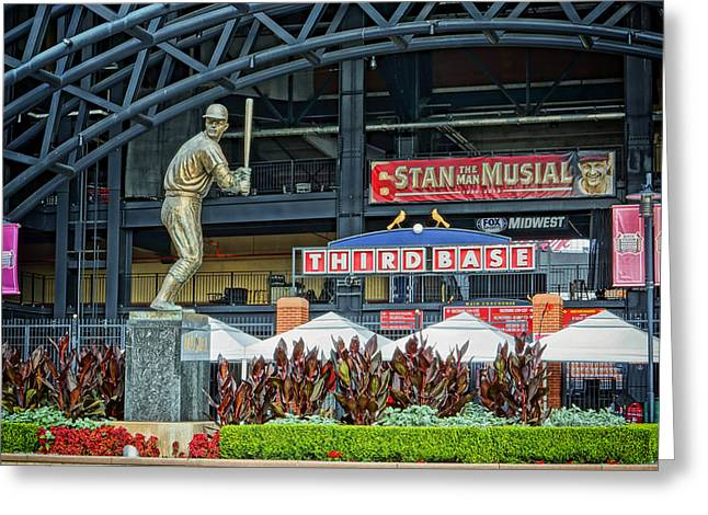Stan Musial Statue At Busch Stadium St Louis Mo Greeting Card