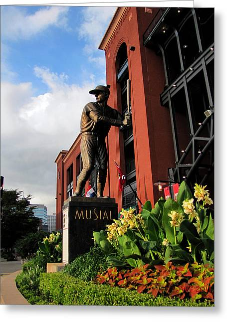 Stan Musial Statue Greeting Card