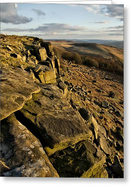 Stanage Edge Greeting Card