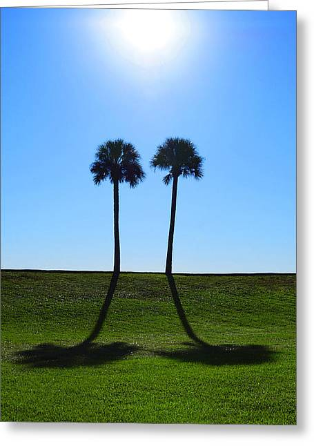 Stand By Me - Palm Tree Art By Sharon Cummings Greeting Card by Sharon Cummings