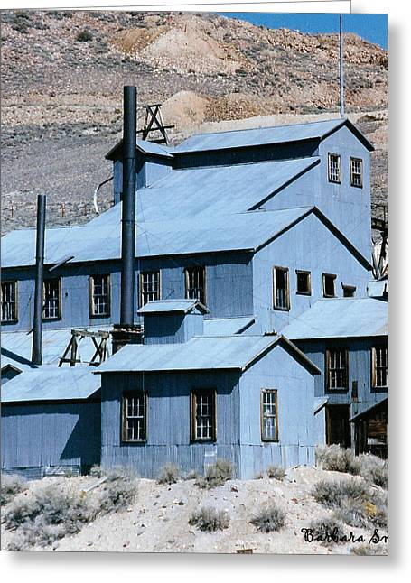 Standard Mill At Bodie Greeting Card by Barbara Snyder