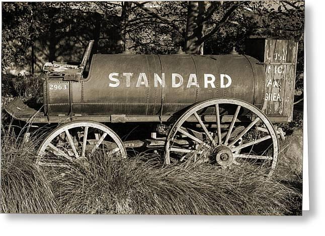 Standard Oil Sepia Greeting Card by John Hancock