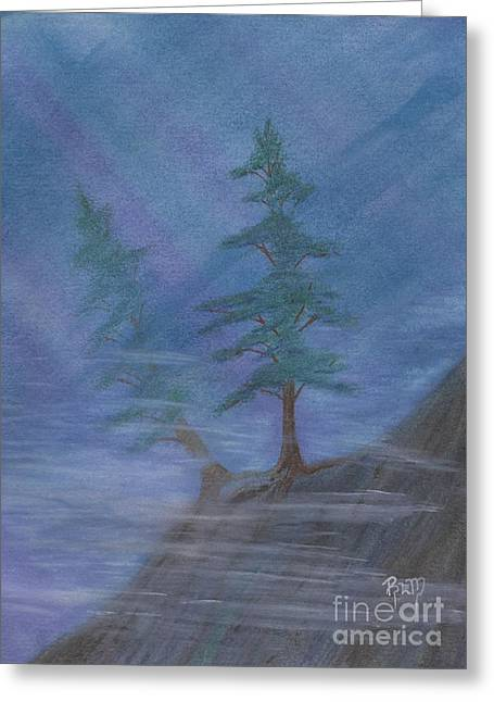 Standing Alone Greeting Card by Robert Meszaros