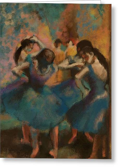 Standing Ballerinas Greeting Card