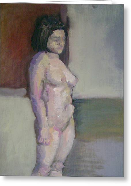 Standing Figure Greeting Card by Cynthia Harvey