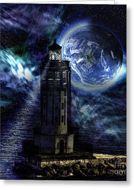 Greeting Card featuring the digital art Standing Guard by Shirley Mangini