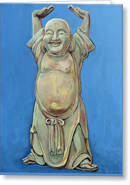 Standing Happy Greeting Card by Tom Roderick