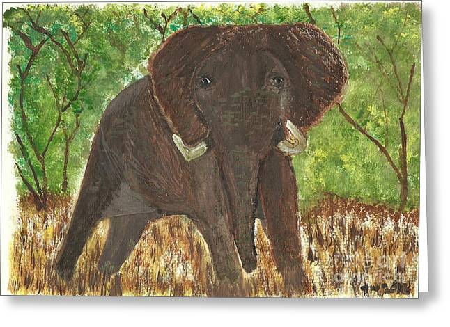 Greeting Card featuring the painting Standing My Ground by Tracey Williams