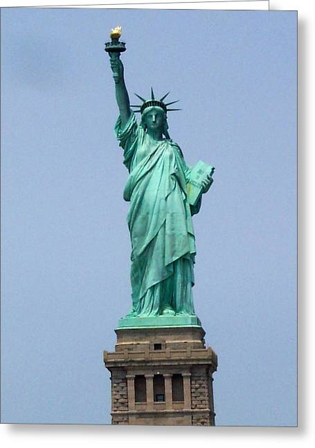Standing Proud Greeting Card by Pamela Schreckengost