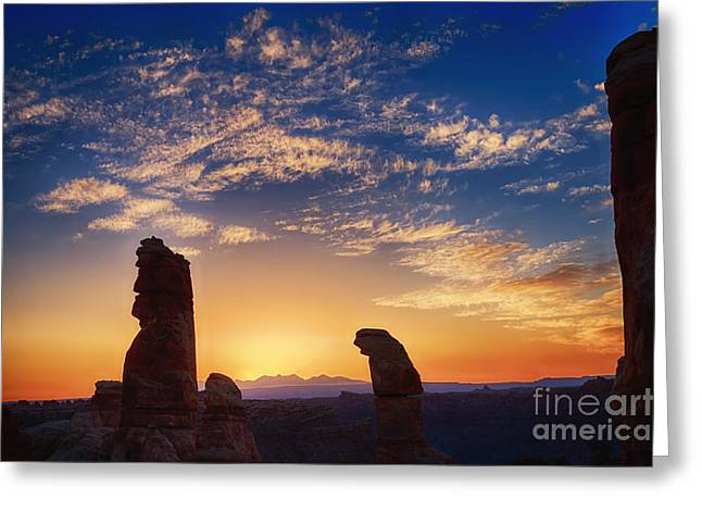 Standing Rock Sunrise Greeting Card