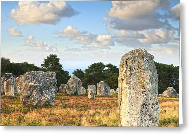 Standing Stones Carnac Brittany Greeting Card by Colin and Linda McKie
