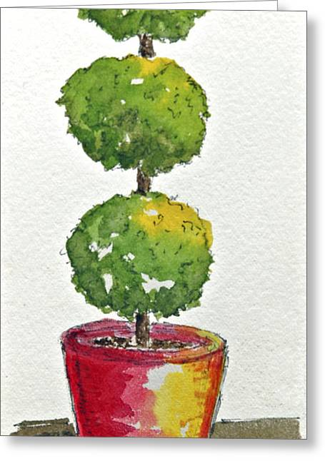 Standing Tall Greeting Card by Barbara Wirth