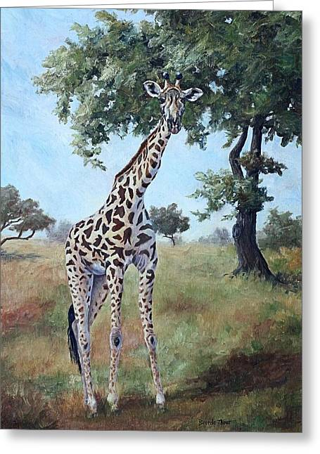 Greeting Card featuring the painting Standing Tall by Brenda Thour