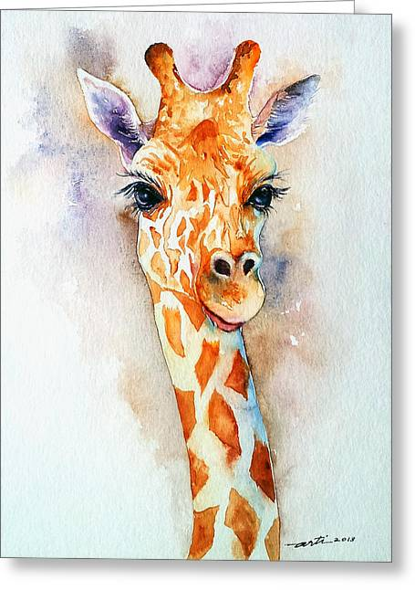 Standing Tall_giraffe Greeting Card