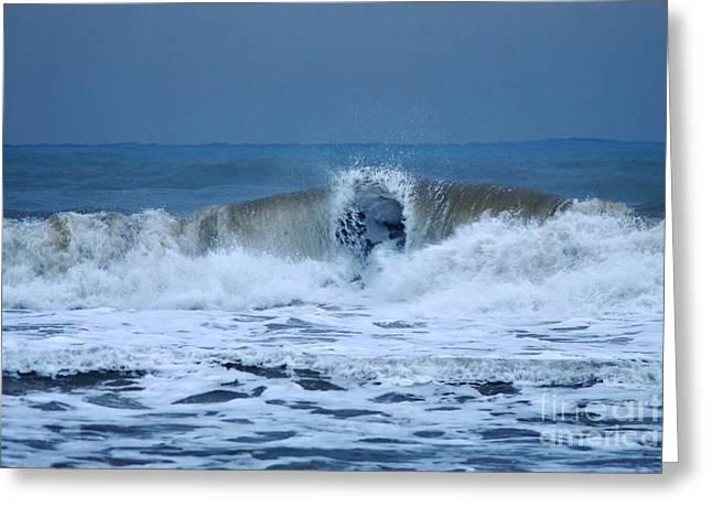 Dancing Of The Waves Greeting Card by Erhan OZBIYIK