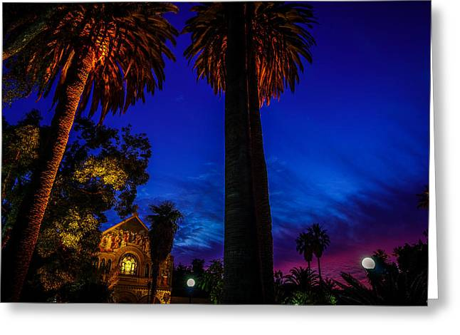 Stanford University Memorial Church At Sunset Greeting Card by Scott McGuire