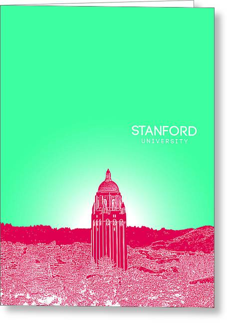 Stanford University Greeting Card by Myke Huynh