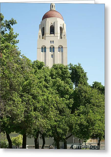 Stanford University Palo Alto California Hoover Tower Dsc677 Greeting Card by Wingsdomain Art and Photography