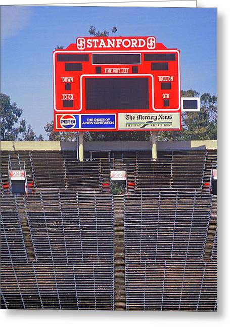 Stanford University Stadium In Palo Greeting Card