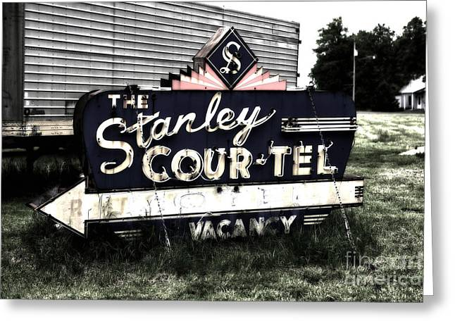 Stanley Court Greeting Card by John Rizzuto