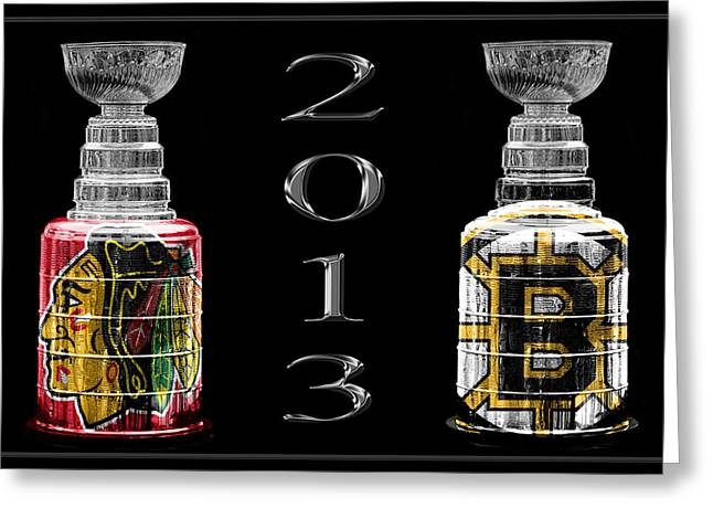 Stanley Cup Playoffs 2013 Greeting Card by Andrew Fare