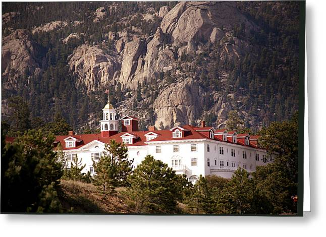 Stanley Hotel Estes Park Greeting Card by Marilyn Hunt