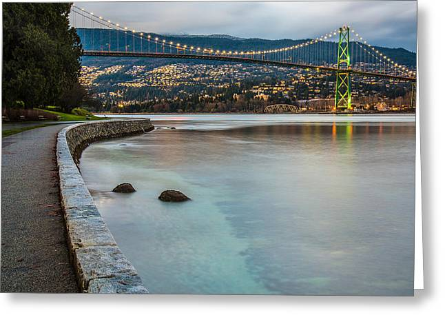 Stanley Park Seawall View Greeting Card by James Wheeler