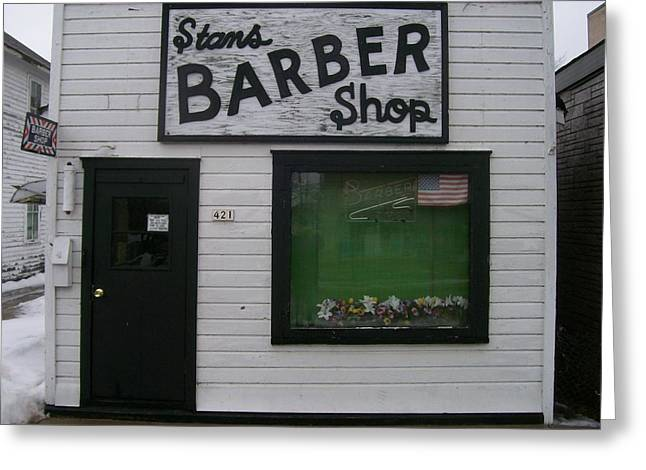 Stans Barber Shop Menominee Greeting Card