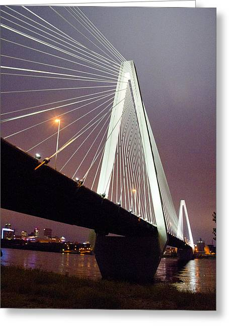 Stan's Span Over The Mississippi River - St Louis Greeting Card by Garry McMichael