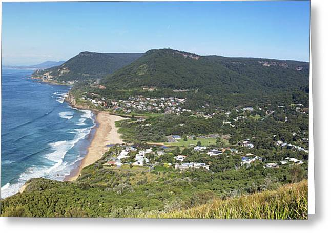 Stanwell Park Panorama Greeting Card