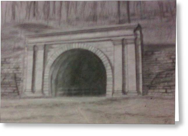 Staple Bend Tunnel West Facade Greeting Card by Thomasina Durkay