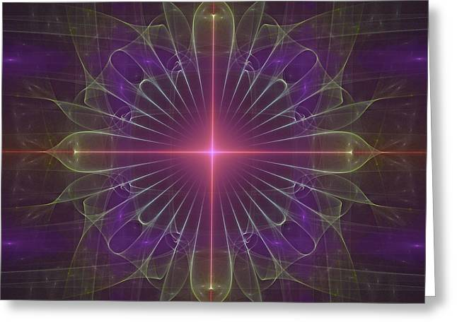 Greeting Card featuring the digital art Star 1 by Ursula Freer
