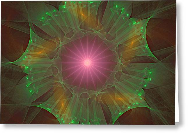 Greeting Card featuring the digital art Star 6 by Ursula Freer