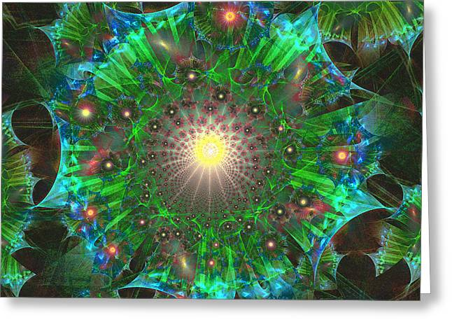 Greeting Card featuring the digital art Star 9 by Ursula Freer