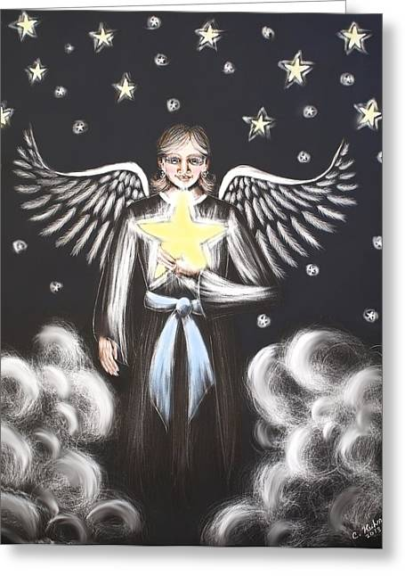 Star Angel Greeting Card