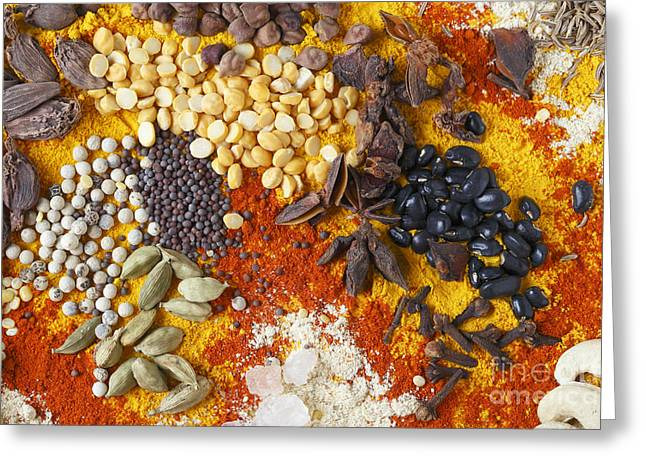 Star Anise And Black Beans Greeting Card