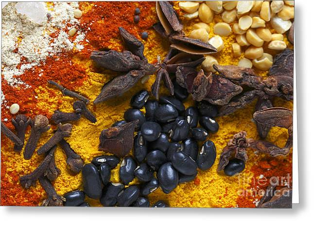 Star Anise Cloves And Black Beans Greeting Card