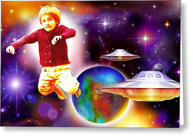 Star Child Greeting Card by Hartmut Jager