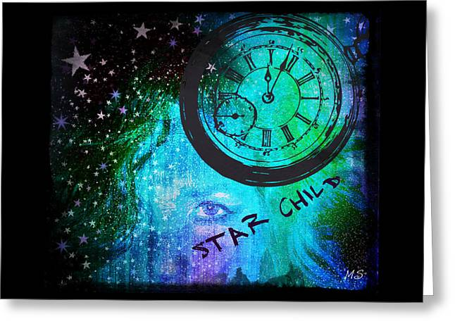 Star Child - Time To Go Home Greeting Card